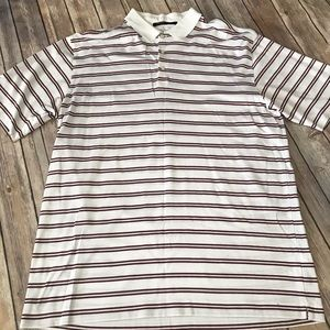 Nike Tiger Woods striped golf polo size large